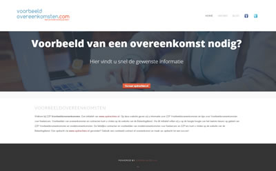 Website Voorbeeldovereenkomsten.com