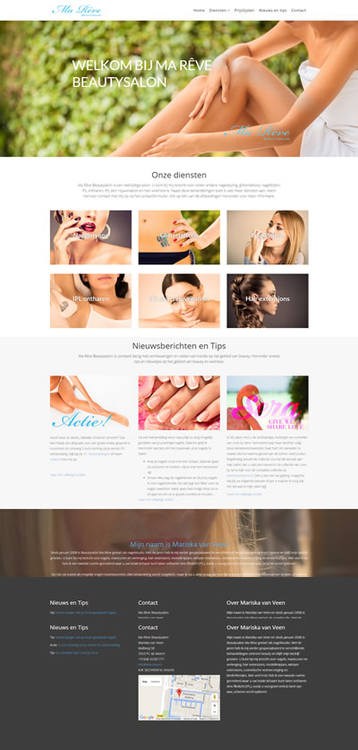 Website Beautysalon Ma Rêve