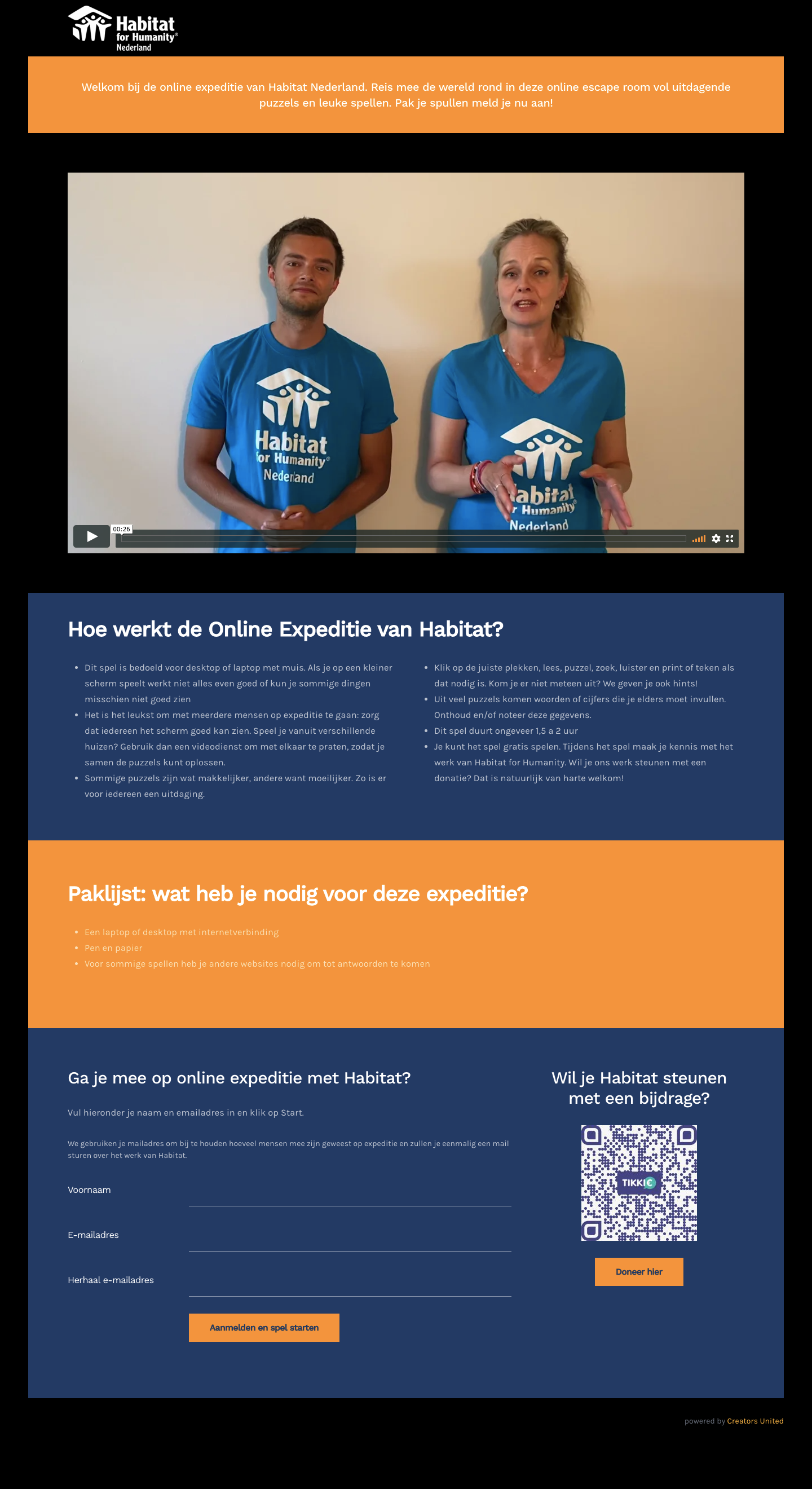 Habitat Online Expeditie